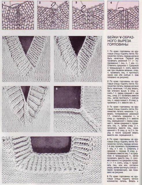 6.Связать бейку горловины ,как описано в 5 примере, соединив перед...
