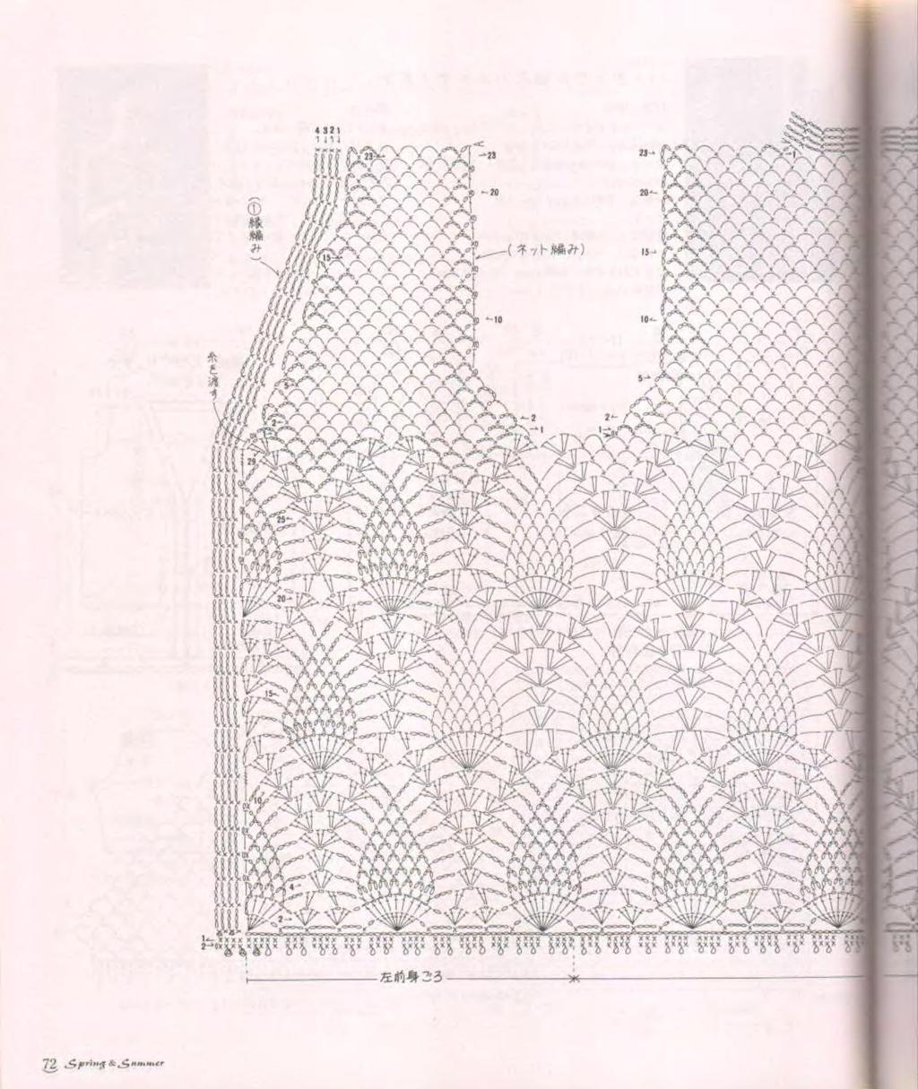 Вязание крючком кардиган схемы ананас