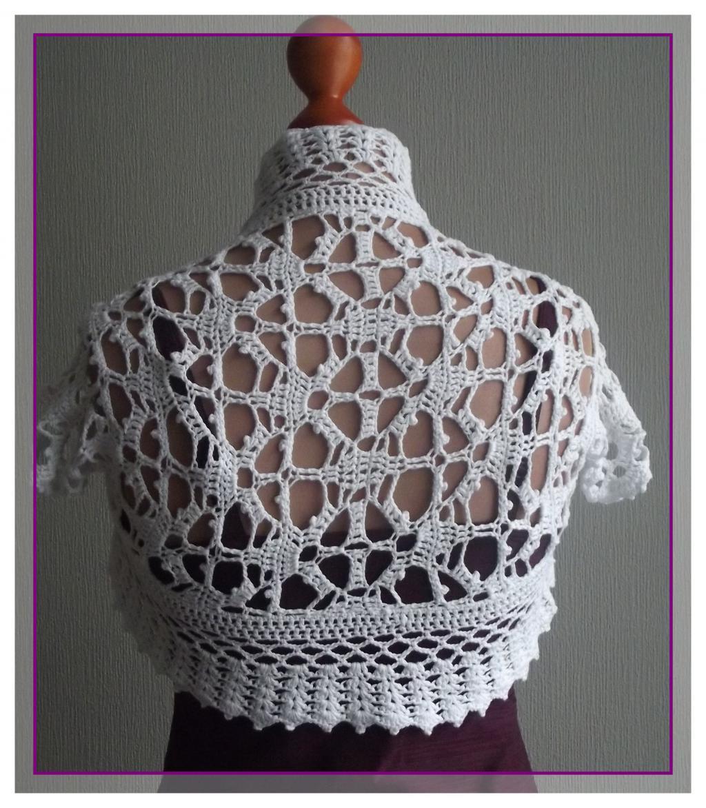 Болеро вязаное крючком фото
