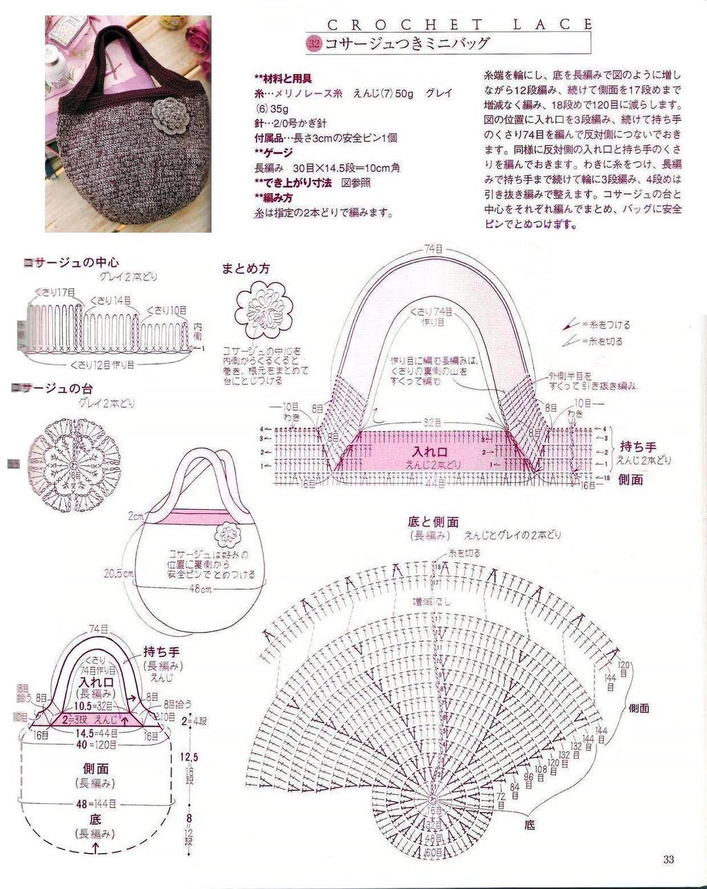 Маленькая сумка крючком фото и схемы
