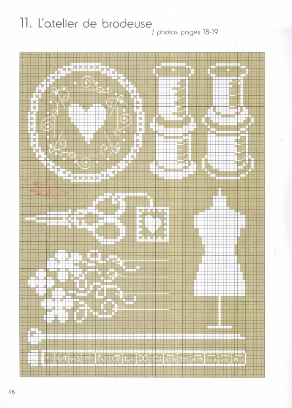 Схемы для вышивки крестом ножницы