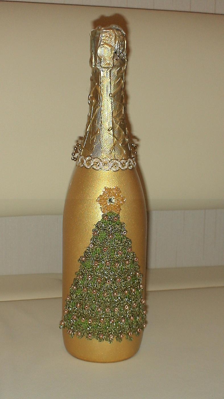 Ваза из шампанского своими руками
