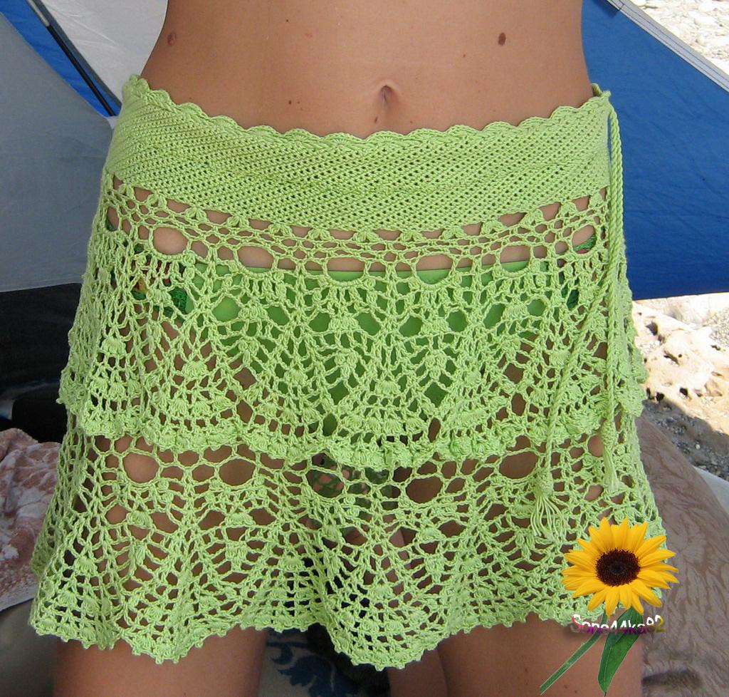 Вязание юбочки пляжные