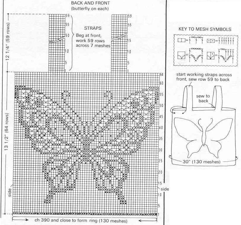 Картинки схем филейного вязания