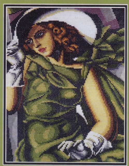 вышивка крестом схемы девушка