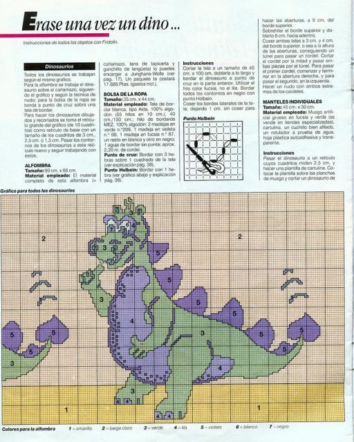 ее аппликацией динозавра