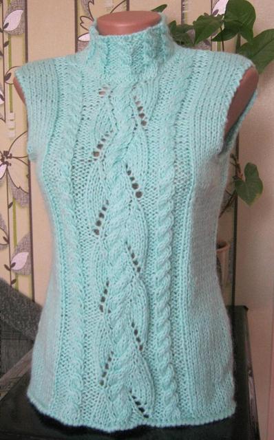 Вязание жилетки из мохера для женщин 54 размер 6616
