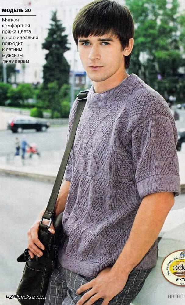 легкая летняя футболка спицами вязание и рукоделие