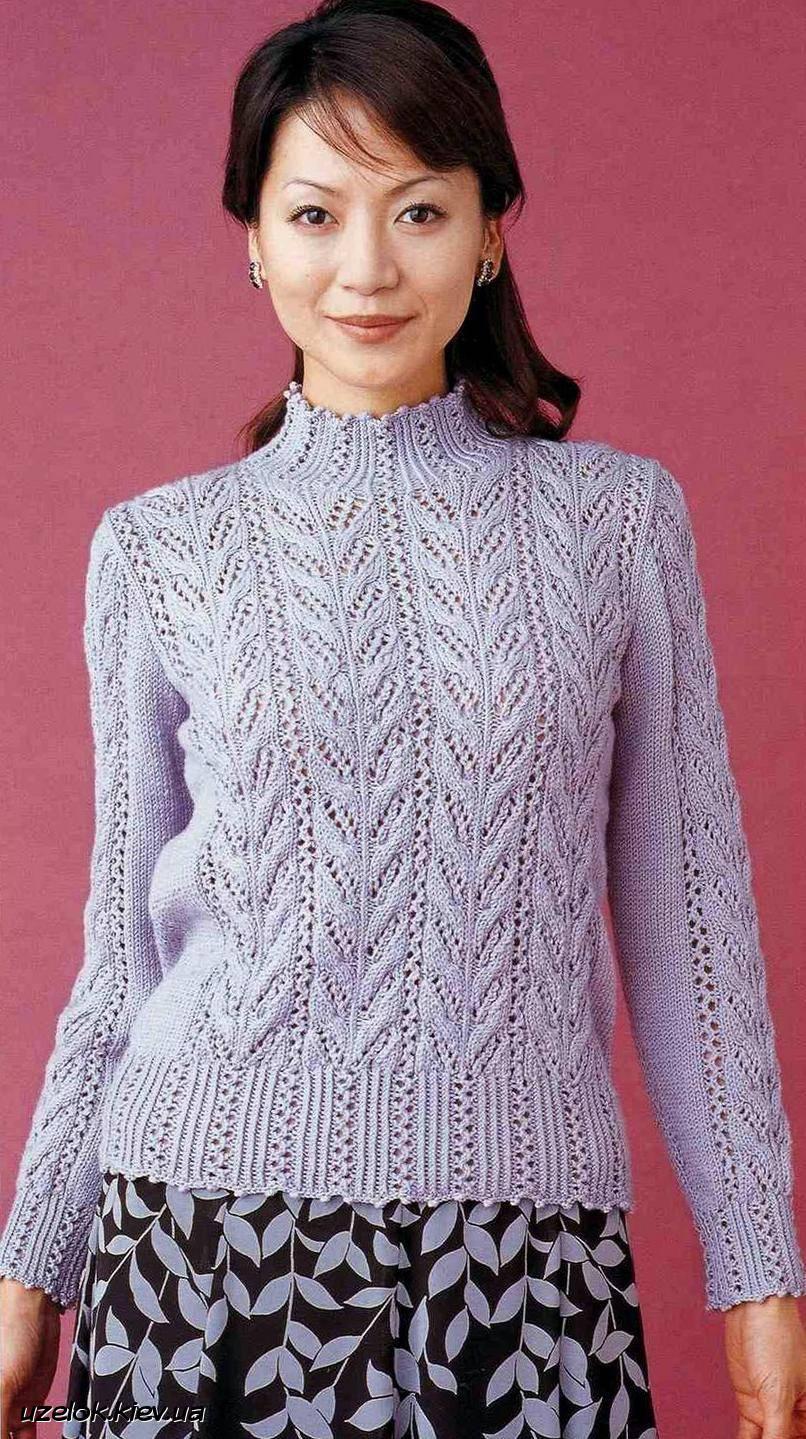 Красивый ажурный пуловер