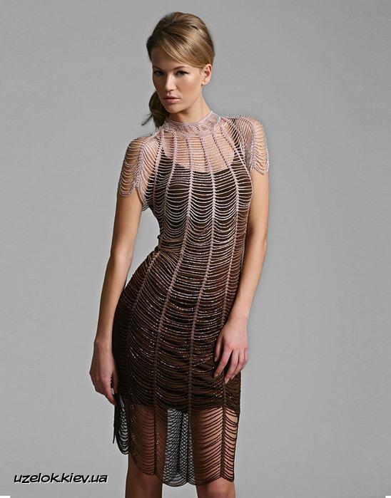Вечернее платье   Вязание и рукоделие