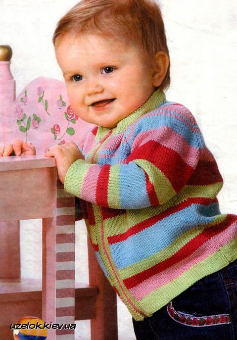 жакет в полоску для самых маленьких вязание и рукоделие