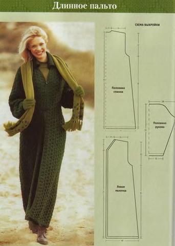 Молодежное вязаное пальто своими руками