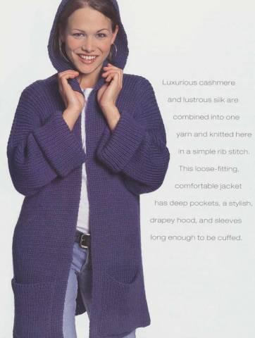 Вязания для начинающих спицами кофты простые