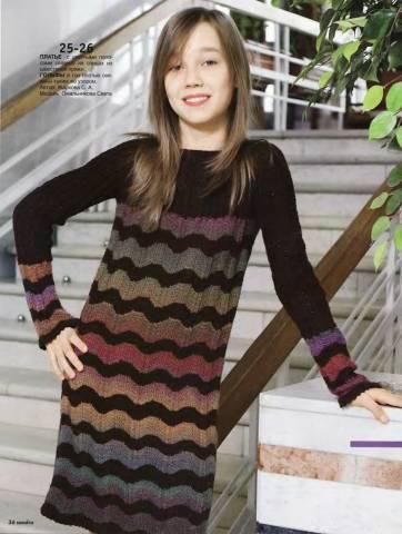 Вяжем платье подростку