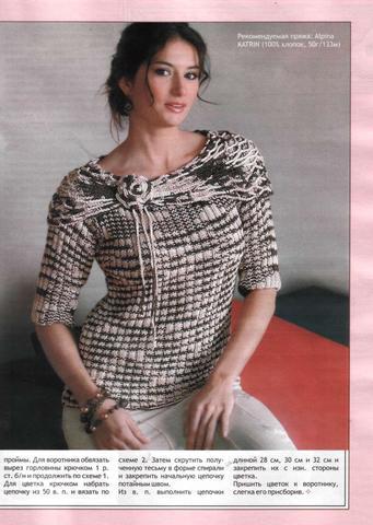Вязание моделей из меланжевой пряжи