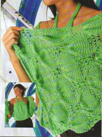 Вязание спицами топ и накидка
