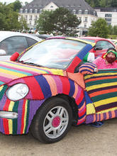 Вязаный кабриолет Volkswagen Beetle Convertible